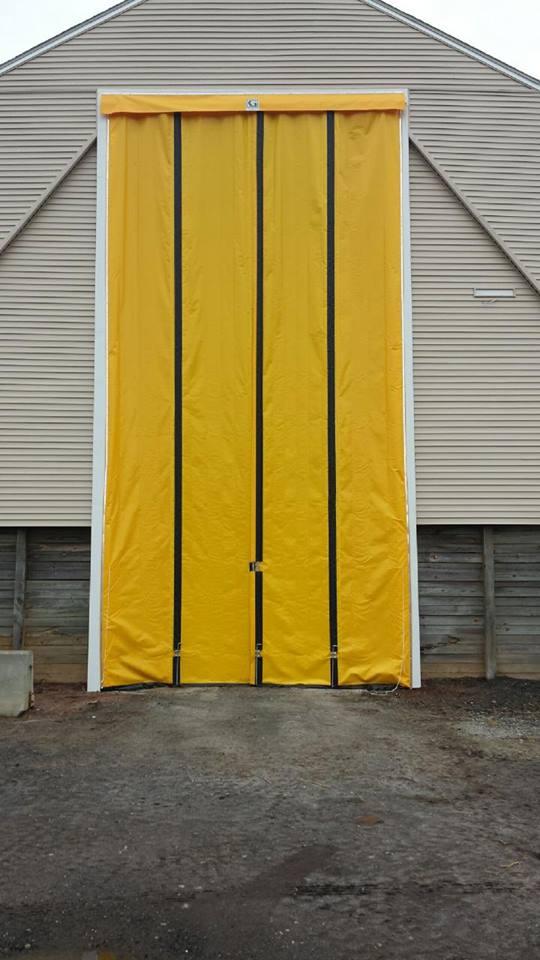 Overhead door work in progress